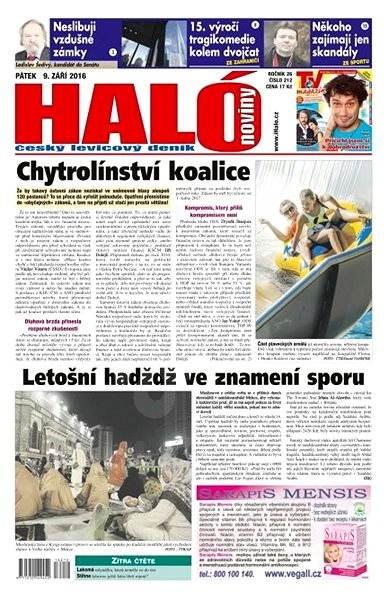 Haló noviny - 09_09_2016 - Elektronické noviny