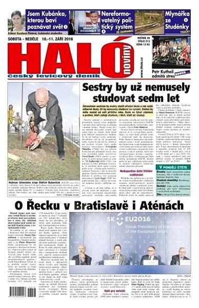 Haló noviny - 10_09_2016 - Elektronické noviny