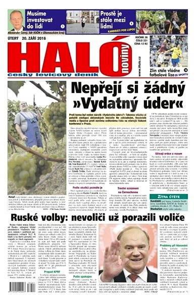 Haló noviny - 20_09_2016 - Elektronické noviny
