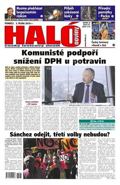 Haló noviny - 03_10_2016 - Elektronické noviny