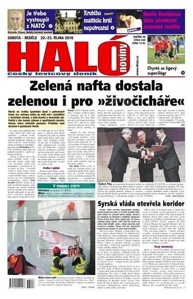 Haló noviny - 22_10_2016 - Elektronické noviny