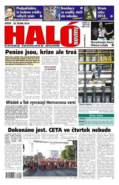 Haló noviny - 25_10_2016 - Elektronické noviny
