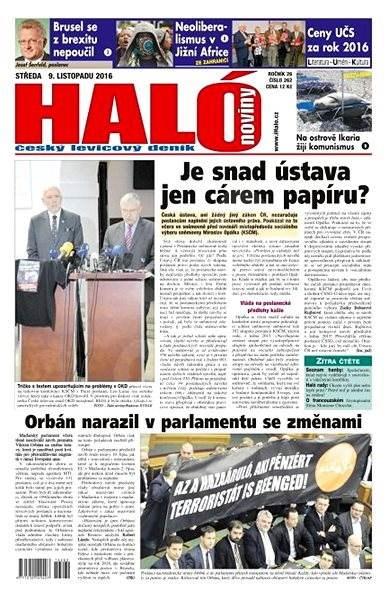 Haló noviny - 09_11_2016 - Elektronické noviny