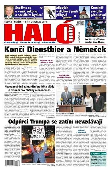 Haló noviny - 12_11_2016 - Elektronické noviny
