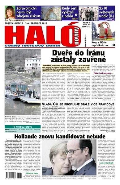 Haló noviny - 03_12_2016 - Elektronické noviny