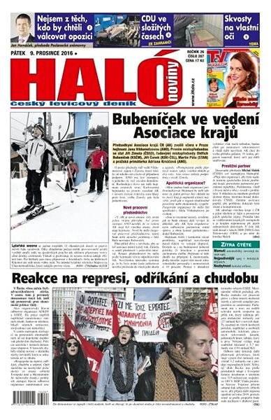 Haló noviny - 09_12_2016 - Elektronické noviny