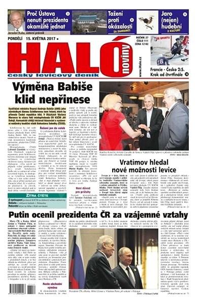 Haló noviny - 15_05_2017 - Elektronické noviny