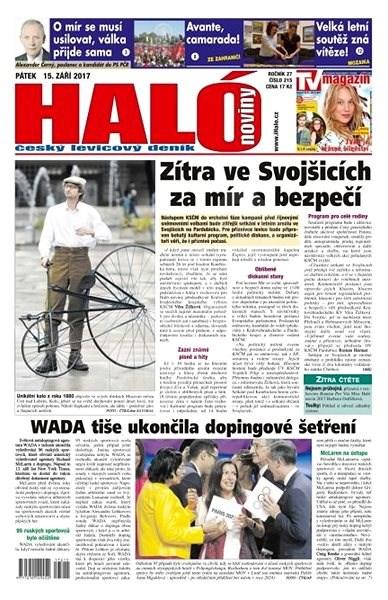 Haló noviny - 15_09_2017 - Elektronické noviny