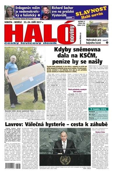 Haló noviny - 23_09_2017 - Elektronické noviny