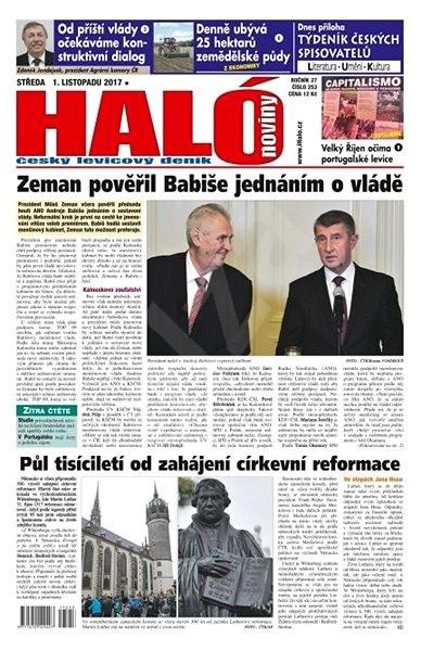 Haló noviny - 01_11_2017 - Elektronické noviny