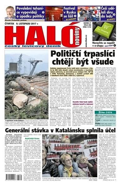 Haló noviny - 09_11_2017 - Elektronické noviny