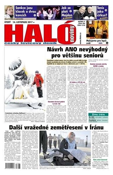Haló noviny - 14_11_2017 - Elektronické noviny