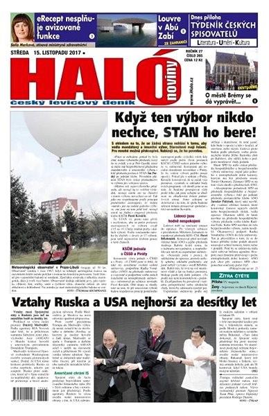 Haló noviny - 15_11_2017 - Elektronické noviny
