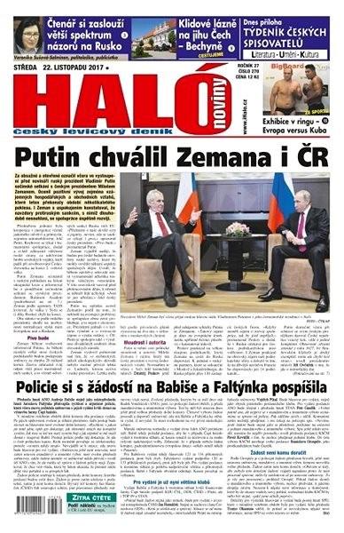 Haló noviny - 22_11_2017 - Elektronické noviny