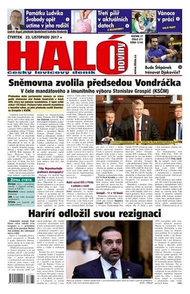 Haló noviny - 23_11_2017 - Elektronické noviny