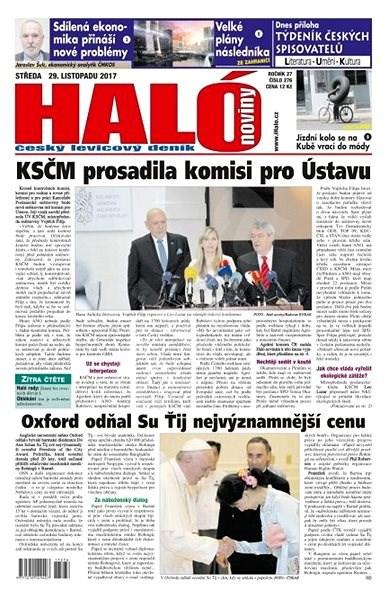 Haló noviny - 29_11_2017 - Elektronické noviny
