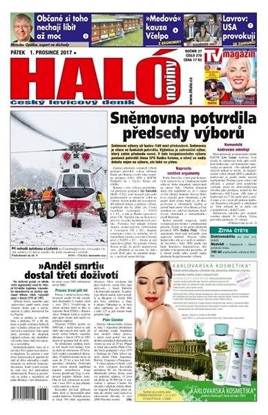 Haló noviny - 01_12_2017 - Elektronické noviny
