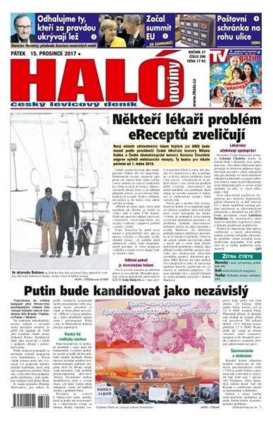 Haló noviny - 15_12_2017 - Elektronické noviny