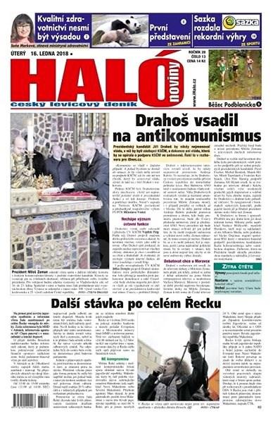 Haló noviny - 16_01_2018 - Elektronické noviny