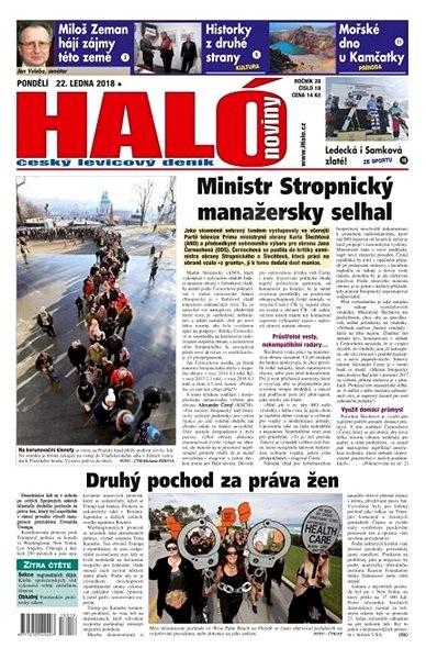 Haló noviny - 22_01_2018 - Elektronické noviny