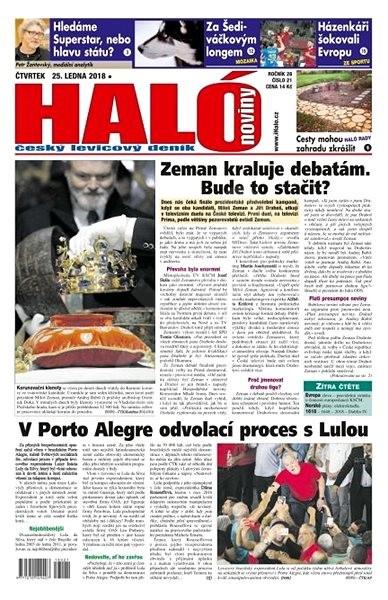 Haló noviny - 25_01_2018 - Elektronické noviny