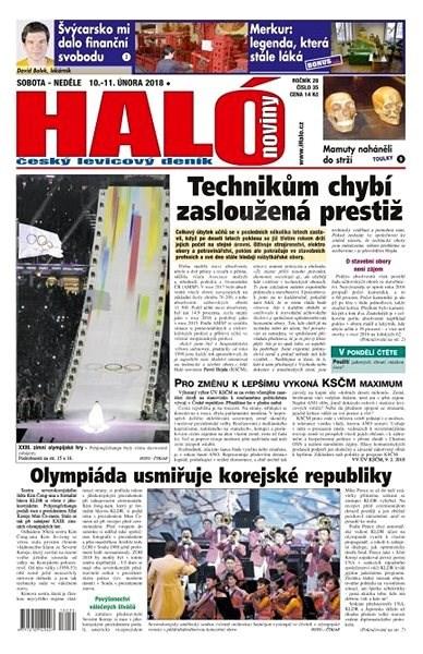 Haló noviny - 10_02_2018 - Elektronické noviny