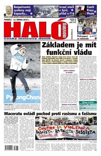 Haló noviny - 12_02_2018 - Elektronické noviny