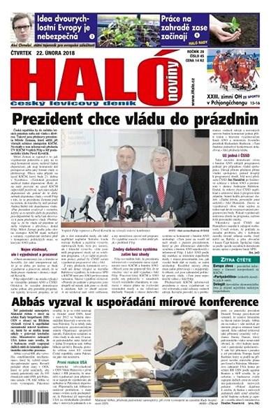 Haló noviny - 22_02_2018 - Elektronické noviny