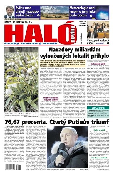 Haló noviny - 20_03_2018 - Elektronické noviny