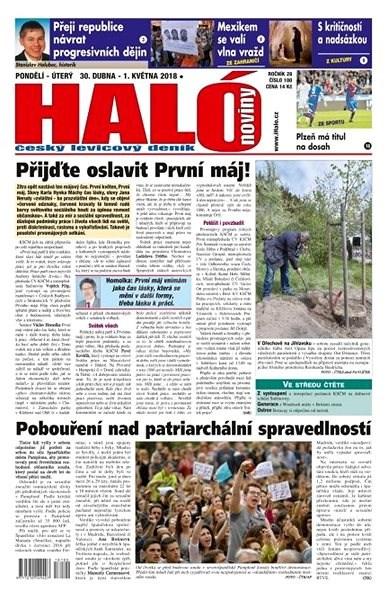 Haló noviny - 30_04_2018 - Elektronické noviny
