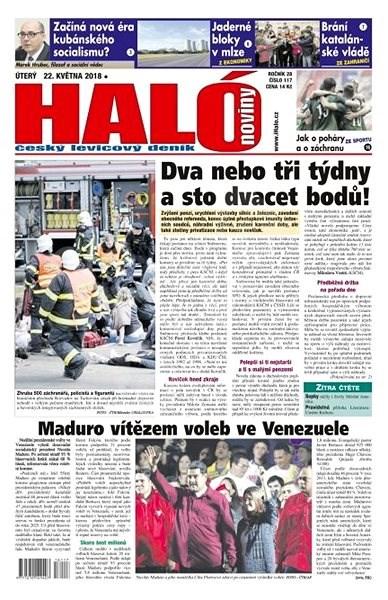 Haló noviny - 22_05_2018 - Elektronické noviny