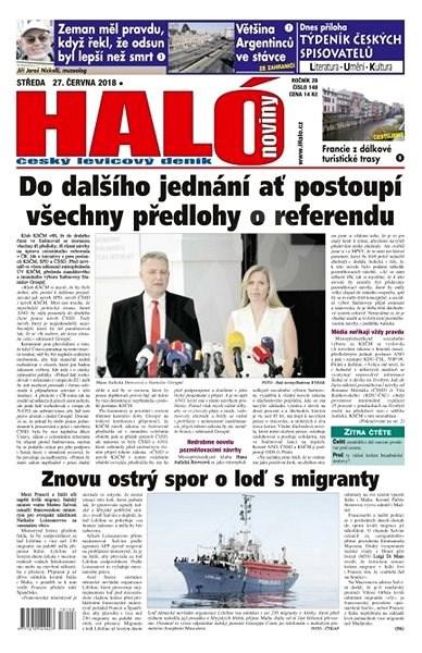 Haló noviny - 27_06_2018 - Elektronické noviny