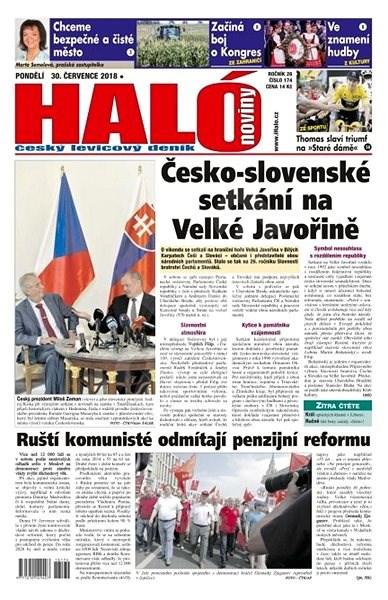 Haló noviny - 30_07_2018 - Elektronické noviny