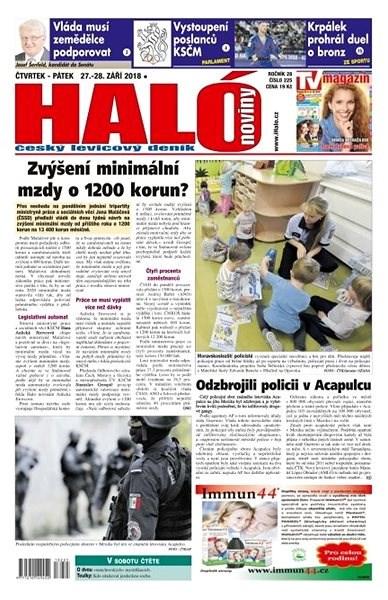 Haló noviny - 27_09_2018 - Elektronické noviny