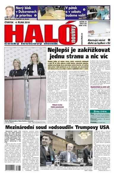 Haló noviny - 04_10_2018 - Elektronické noviny