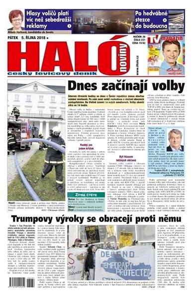 Haló noviny - 05_10_2018 - Elektronické noviny