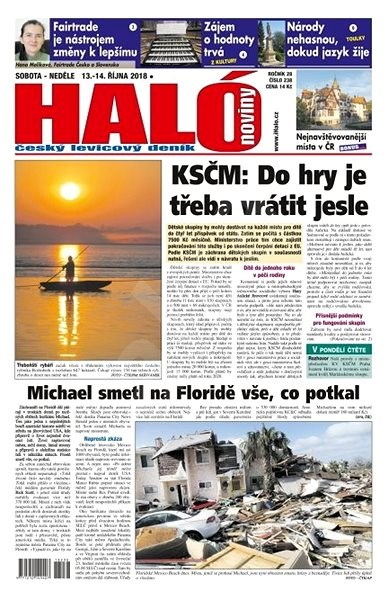 Haló noviny - 13_10_2018 - Elektronické noviny