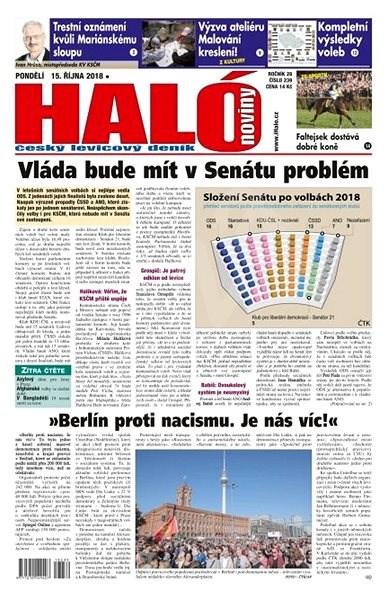 Haló noviny - 15_10_2018 - Elektronické noviny
