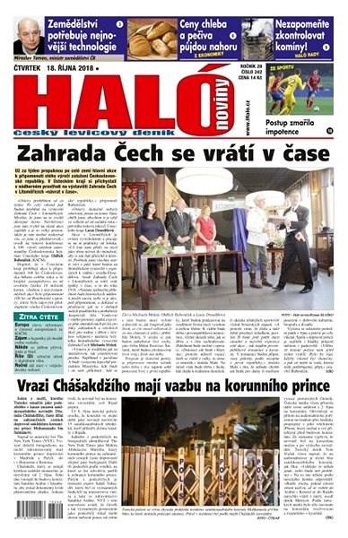 Haló noviny - 18_10_2018 - Elektronické noviny