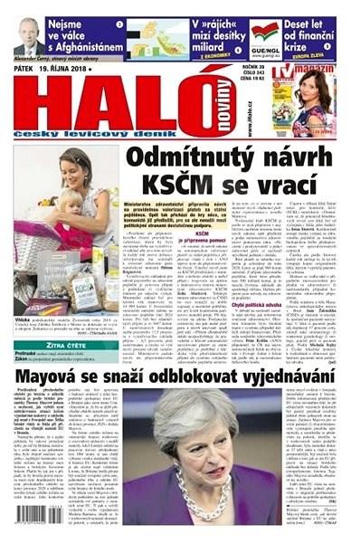 Haló noviny - 19_10_2018 - Elektronické noviny