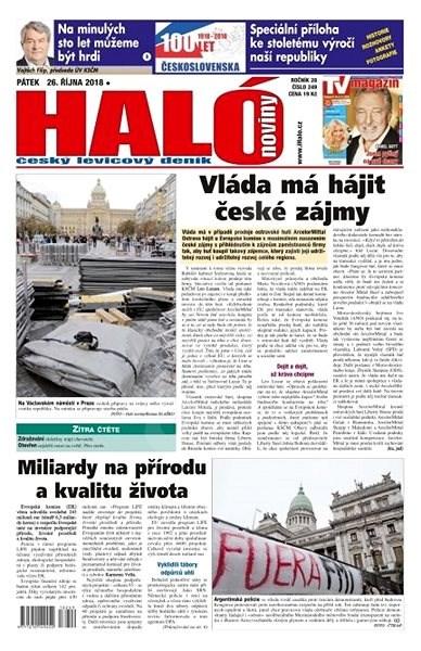 Haló noviny - 26_10_2018 - Elektronické noviny
