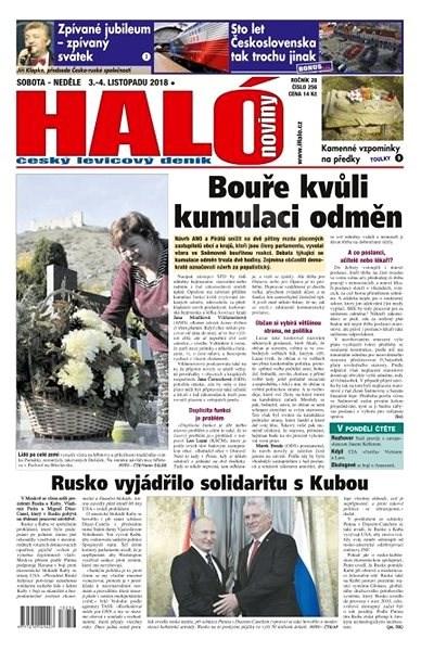 Haló noviny - 03_11_2018 - Elektronické noviny