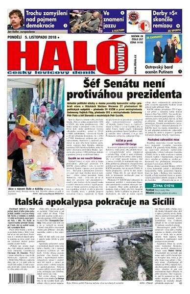 Haló noviny - 05_11_2018 - Elektronické noviny