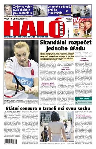 Haló noviny - 09_11_2018 - Elektronické noviny