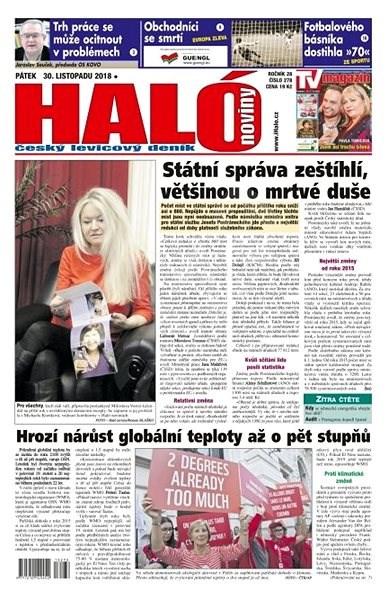Haló noviny - 30_11_2018 - Elektronické noviny