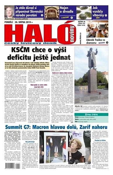 Haló noviny - 26_08_2019 - Elektronické noviny