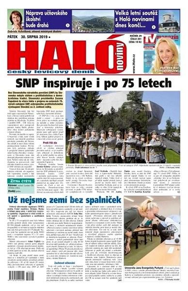 Haló noviny - 30_08_2019 - Elektronické noviny