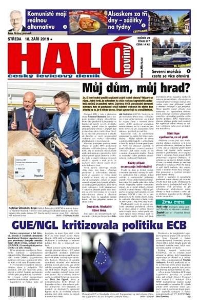 Haló noviny - 18_09_2019 - Elektronické noviny