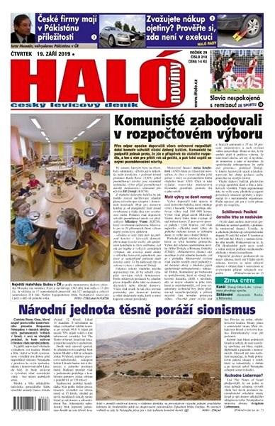 Haló noviny - 19_09_2019 - Elektronické noviny