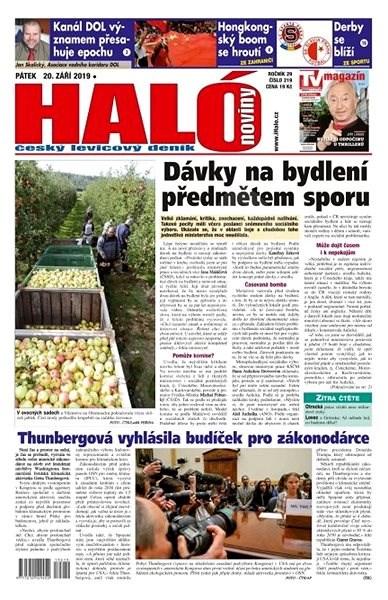 Haló noviny - 20_09_2019 - Elektronické noviny